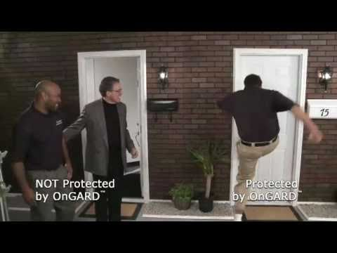 Security Door Brace | Door Wedge | Real Time Demo of The OnGARD Door Brace / - YouTube & Security Door Brace | Door Wedge | Real Time Demo of The OnGARD Door ...