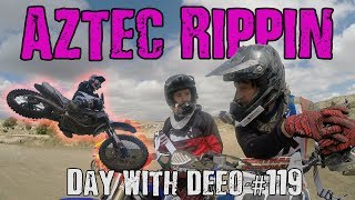 FASTEST I'VE EVER RODE? | Aztec Raceway Rippin'! - Motovlog - Day with DeeO #119