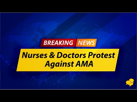 American Medical Association Protested By Doctors, Nurses And Medical Students