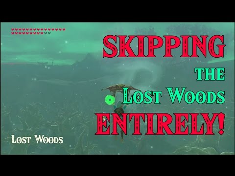 SKIPPING The Lost Woods ENTIRELY! ..a Korok Secret! In Zelda Breath Of The Wild