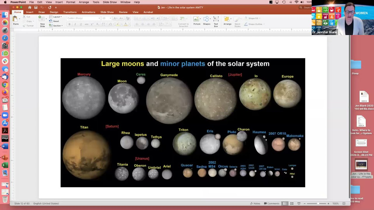 Class on Where to Look for Life in our Solar System