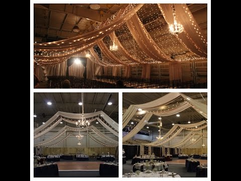 Ceiling Draping for Wedding 9-25-15