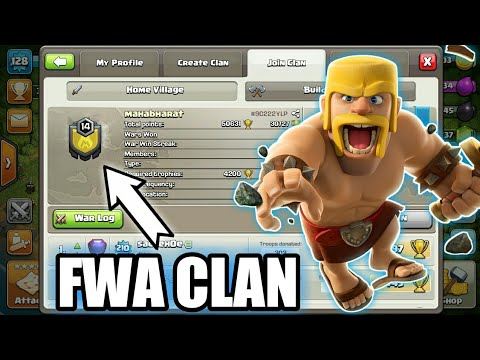 HOW TO MAKE FWA CLAN !! CLASH OF CLANS