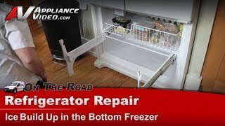 Whirlpool Refrigerator Repair - Ice build up in the bottom freezer - GX5FHDXVQ02