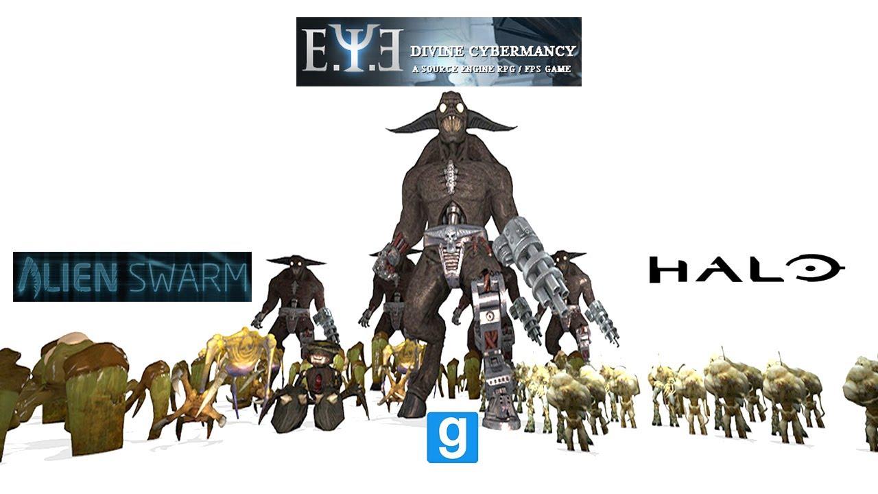 Alien Swarm vs Deus Ex vs Halo Flood - YouTube  Alien Swarm vs ...