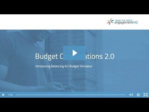 Budget Consultation 2.0