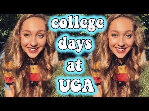 a few college days in my life at UGA! college vlog thumbnail