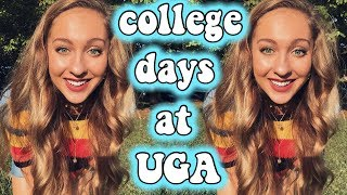 a few college days in my life at UGA! college vlog