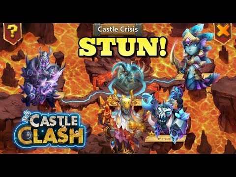 Castle Clash: Castle Crisis  Archdemon STUN  Strategy!