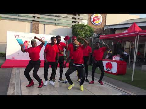 Flashmob at the Accra mall for Huawei