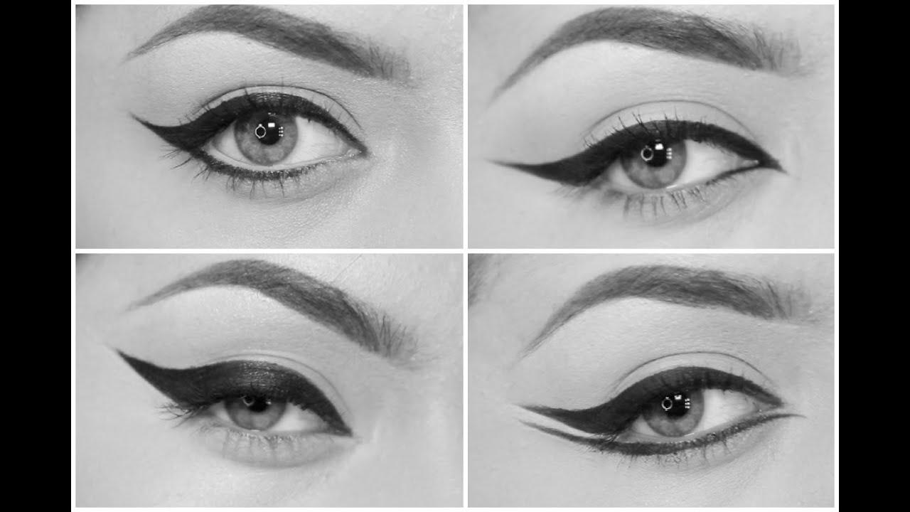4 eyeliner styles