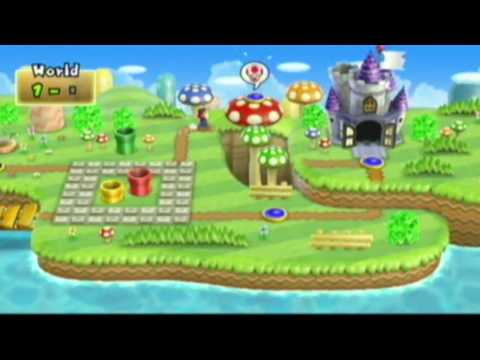 How To EASY Get 99 Ups In New Super Bros Wii And Unlock Mario Without The Hat(HD)