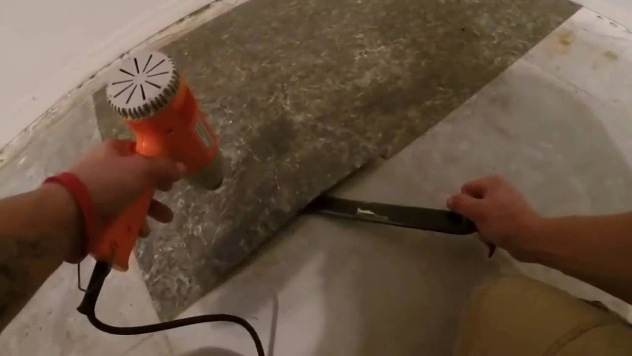 How to remove vinyl square floor tiles with heat gun youtube how to remove vinyl square floor tiles with heat gun dailygadgetfo Gallery