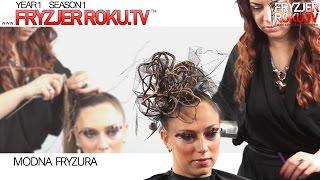Modna fryzura. Fashion hairstyle FryzjerRoku.tv