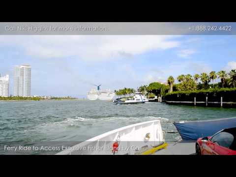 Driving Tour Of Fisher Island - Ferry Ride To The Island