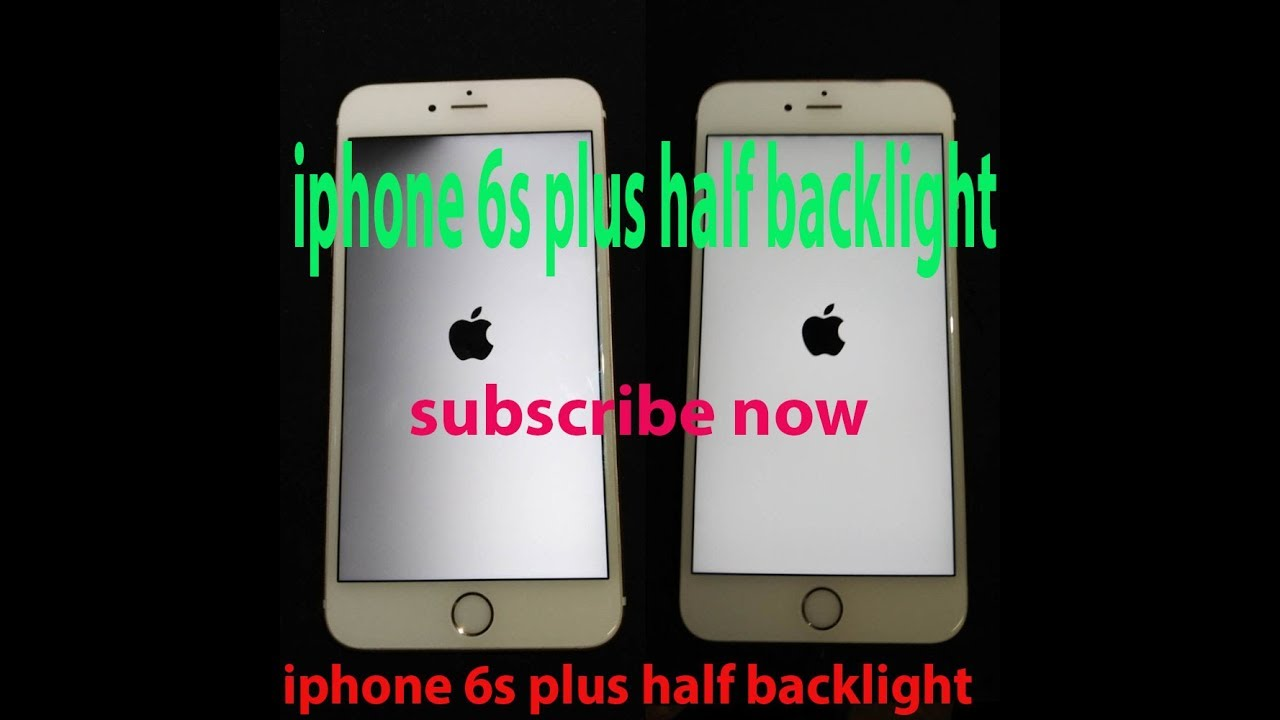 iphone    6s plus half backlight solution  YouTube