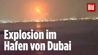 Dubai: Auf einem Container-Schiff bricht Feuer aus