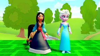 Frozen Elsa (Snow Queen) and Mulan & Barbosa  (Hero Destroyer) | Epic Battle