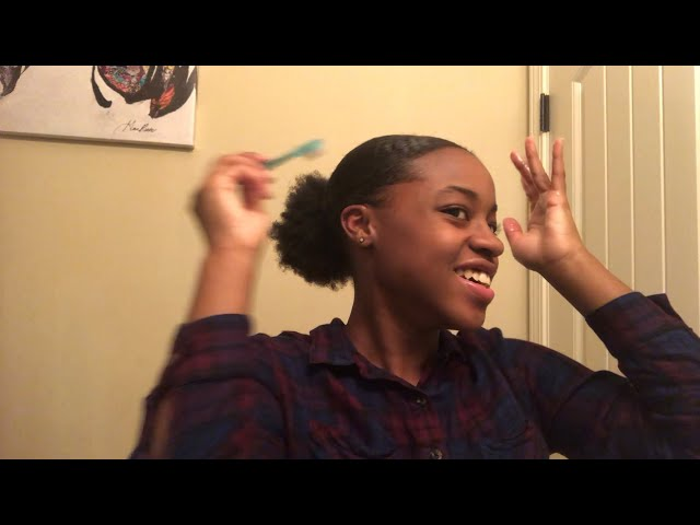 HOW TO: SLEEK LOW PUFF ON SHORT NATURAL HAIR
