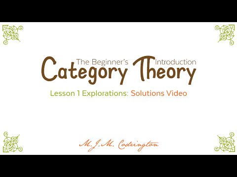 Category Theory: The Beginner's Introduction (Lesson 1 Explorations - Solutions)