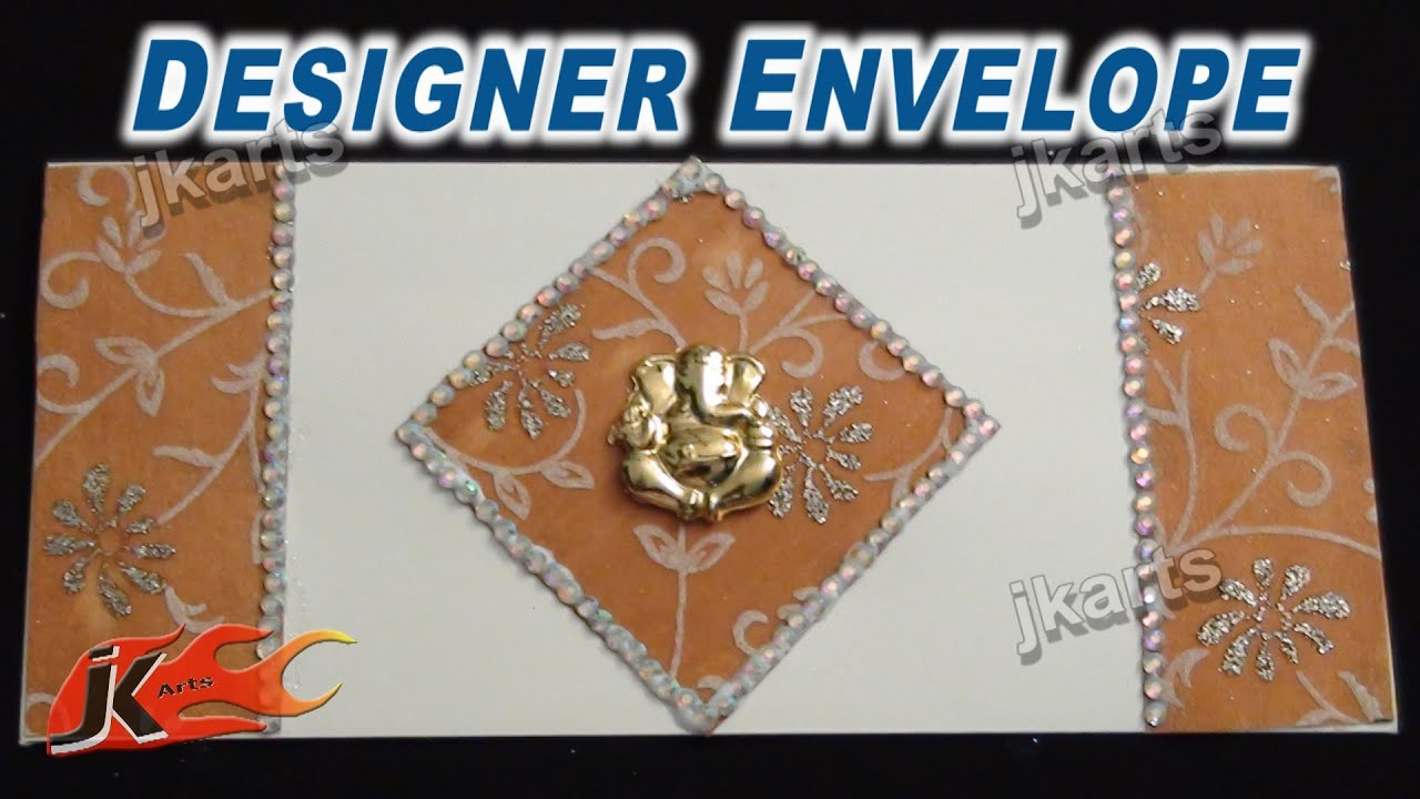 DIY Designer Envelope for Wedding JK Arts 234 - YouTube