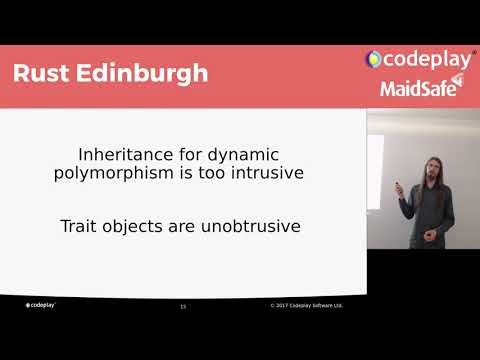 "Rust Edinburgh #1 - Simon Brand: ""How Rust Gets Polymorphism Right"""