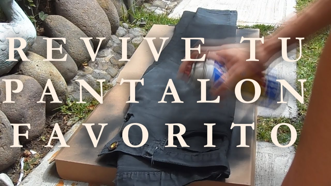Como pintar pantal n negro v ctor caballero youtube - Pintar terrazo viejo ...