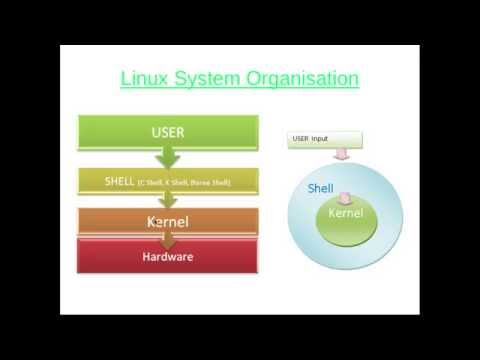 Unix System Organisation + Types of Shells  - UNIX/LINUX Tutorials for beginners