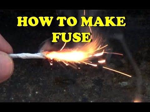 How To Make Fuse For Fireer Fireworks And Rocket