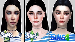 Create the same Sim in Sims 2, 3 & 4 | Female Version (with CC)