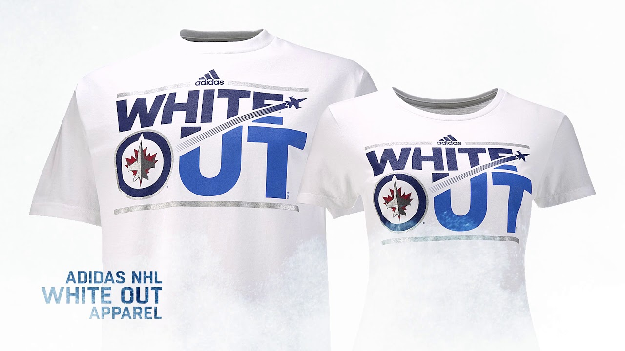 7ec82530985 Winnipeg Jets Adidas NHL White Out Apparel