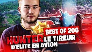 BEST OF SOLARY FORTNITE #206 ► HUNTER LE TIREUR D'ELITE EN AVION