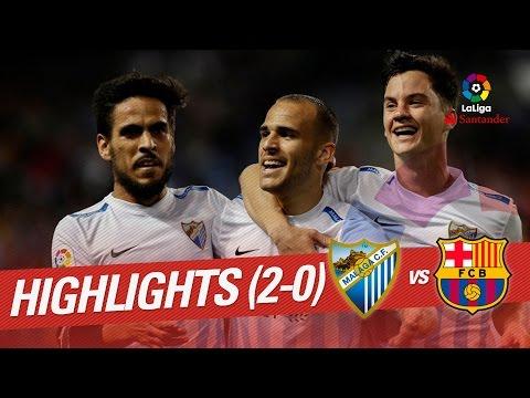 Resumen de Málaga CF vs FC Barcelona (2-0)