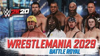 WWE 2K20 : WrestleMania 2029 8-MAN BATTLE ROYAL!! (XBOX ONE X/PS4)
