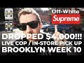 DROPPED $4,000!!! OFF-WHITE Rimowa SUPREME Live Cop In-Store Pick Up Brooklyn Week 10