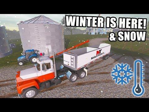 NEW GRAIN TRAILER & WINTER HAS ARRIVED | FARMING SIMULATOR 2017 | EP #21