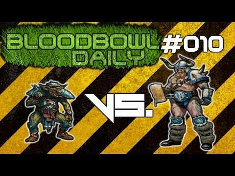 Blood Bowl Daily #10 - Goblin VS. Norse (Last daily, start of weekly!)