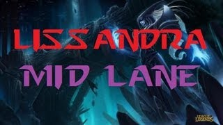 Lissandra Mid Full Gameplay/Commentary+(Quadra Kill) - League of Legends