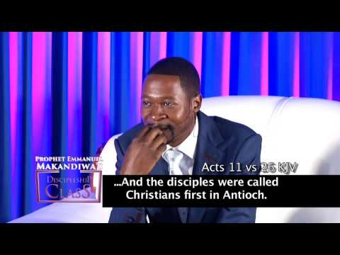 Prophet Makandiwa - Discipleship Class 2 The significance of a name