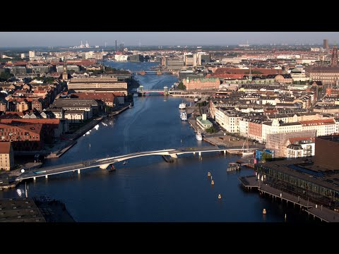 3134. Köpenhamn (Copenhagen) Drone Stock Footage Video