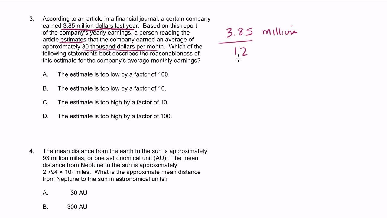 MTEL Math Practice Test: 1-4