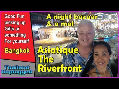 Asiatique The Riverfront night market and food tour Bangkok Thailand