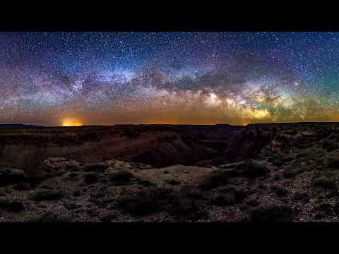 8K 360 timelapse of the MilkyWay over Marble Canyon