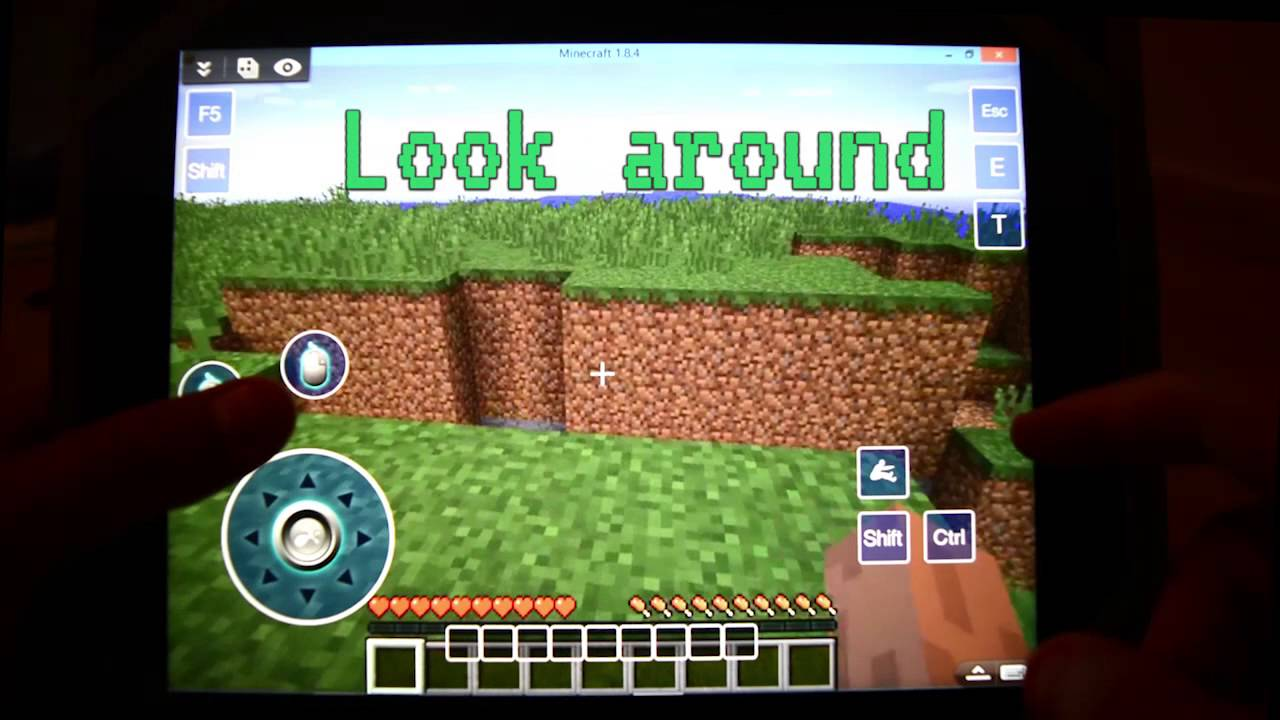 how to play minecraft pc on ipad without computer