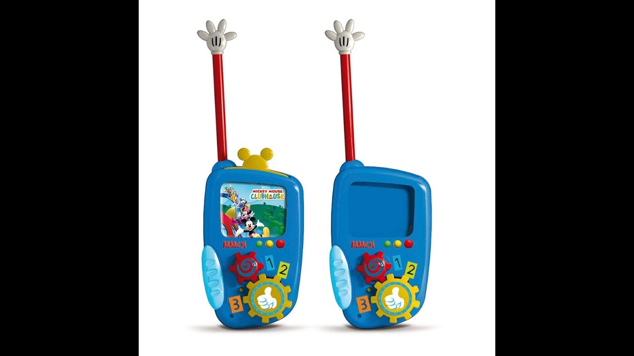 mickey mouse walkie talkies jouets pour les enfants youtube. Black Bedroom Furniture Sets. Home Design Ideas