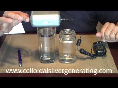 Buy a Colloidal Silver Generator w/ 99.999% Silver Rods: