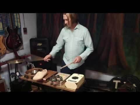 diy cigar box acoustic drum kit