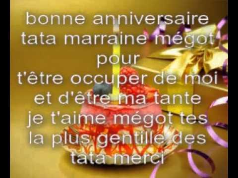 Bonne anniversaire youtube - Poeme anniversaire tata ...