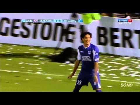 Gols   Defensor URU 2 x 0 Cruzeiro Copa  Libertadores 2014   11. 03. 2014
