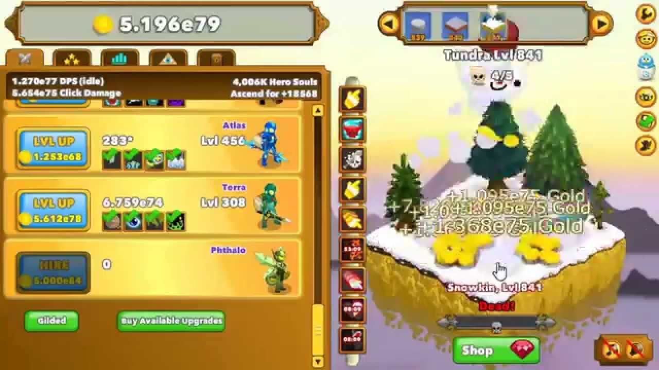 Clicker Heroes Gameplay - Level 4000 Ascension & Relics!